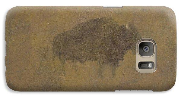 Buffalo In A Sandstorm Galaxy S7 Case by Albert Bierstadt