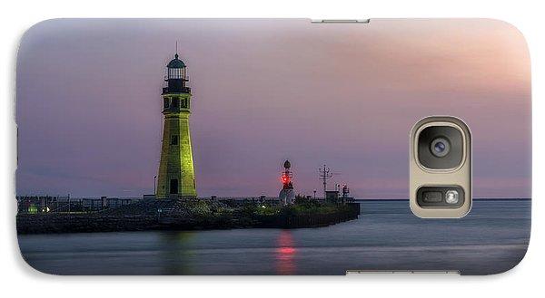 Galaxy Case featuring the photograph Buffalo Main Light by Mark Papke