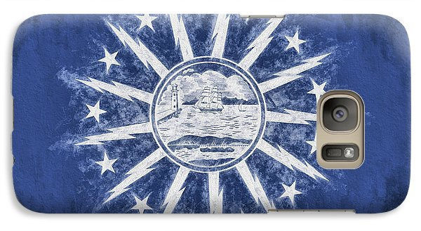 Galaxy S7 Case featuring the digital art Buffalo Ny City Flag by JC Findley