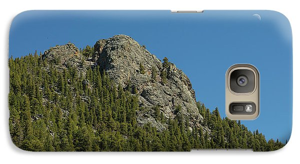 Galaxy Case featuring the photograph Buffalo Rock With Waxing Crescent Moon by James BO Insogna