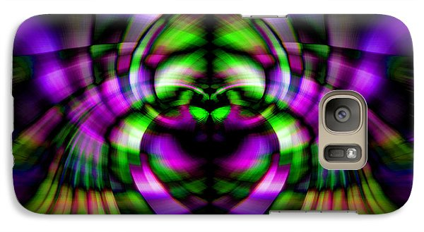 Galaxy Case featuring the photograph Bug With Wings by Cherie Duran