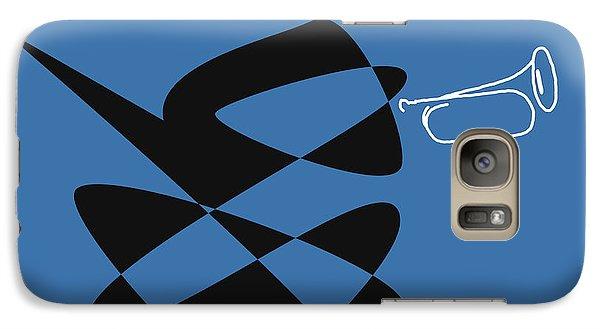Galaxy Case featuring the digital art Bugle In Blue by David Bridburg
