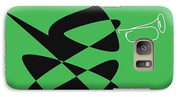 Galaxy Case featuring the digital art Bugle In Green by David Bridburg