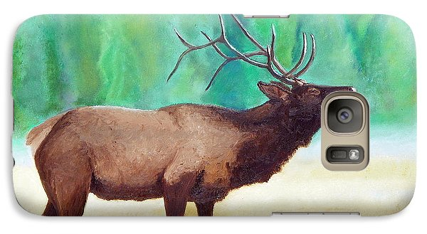 Galaxy Case featuring the painting Bugling Elk by Sherril Porter