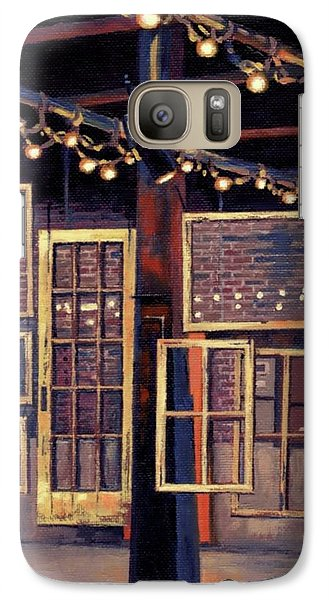 Galaxy Case featuring the painting Building 8 At The Factory by Janet King
