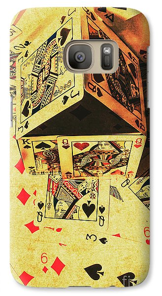 Galaxy S7 Case featuring the photograph Building Bets And Stacking Odds by Jorgo Photography - Wall Art Gallery