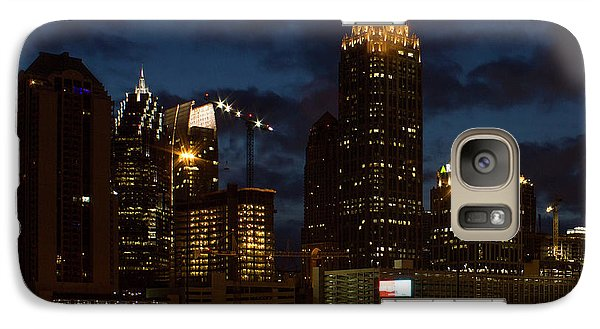 Galaxy Case featuring the photograph Building Boom Midtown Atlanta Construction Art by Reid Callaway