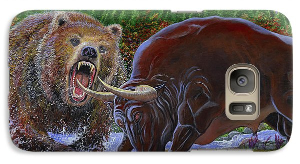 Bull And Bear Galaxy S7 Case by Carey Chen