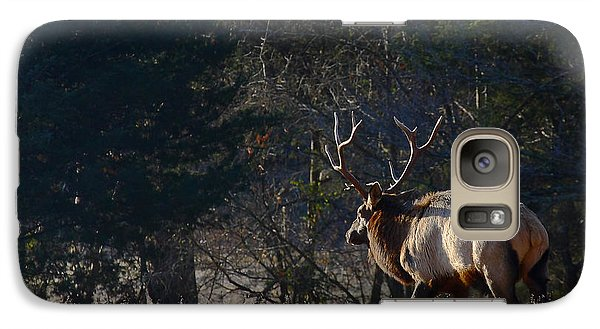 Galaxy Case featuring the photograph Bull Elk In Frost by Michael Dougherty