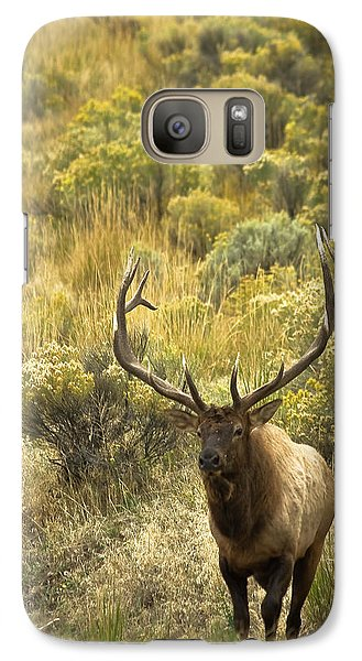 Galaxy Case featuring the photograph Bull Elk by Roger Mullenhour