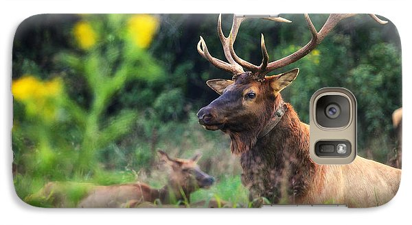Galaxy Case featuring the photograph Bull Elk Rutting In Boxley Valley by Michael Dougherty