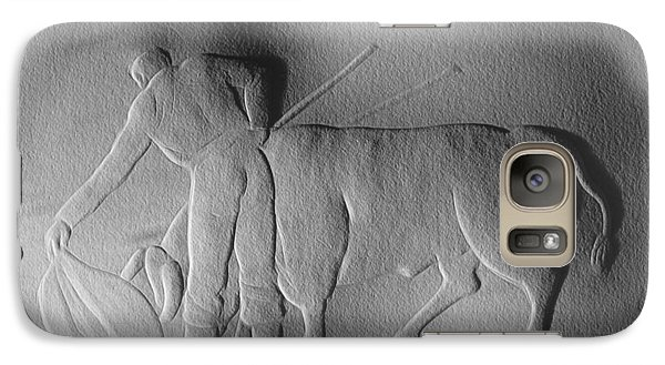 Galaxy Case featuring the relief Bull Fighter by Suhas Tavkar