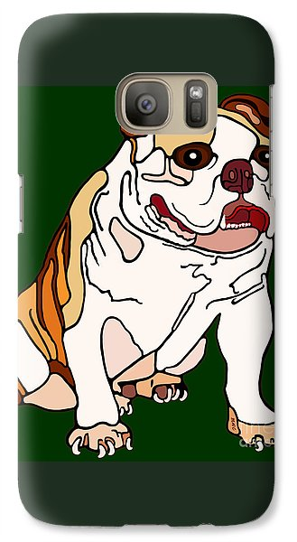 Galaxy Case featuring the painting Bulldog by Marian Cates