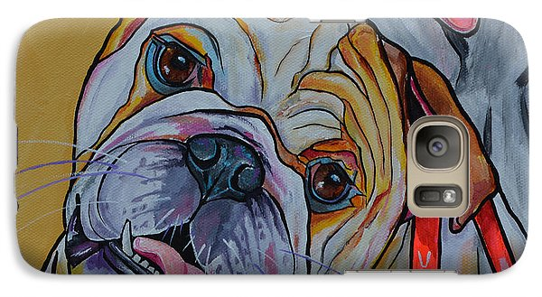 Galaxy Case featuring the painting Bulldog by Patti Schermerhorn