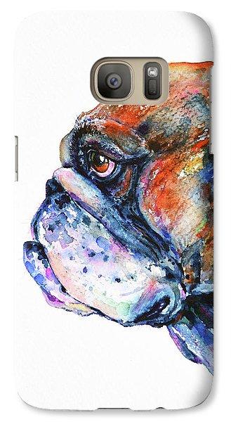 Galaxy Case featuring the painting Bulldog by Zaira Dzhaubaeva