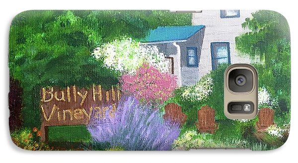 Galaxy Case featuring the painting Bully Hill Vineyard by Cynthia Morgan