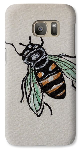 Galaxy Case featuring the painting Bumble Bee by Elizabeth Robinette Tyndall
