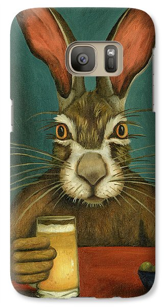 Galaxy Case featuring the painting Bunny Hops by Leah Saulnier The Painting Maniac
