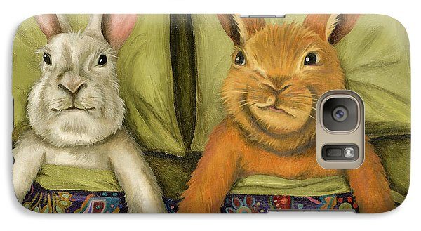 Galaxy Case featuring the painting Bunny Love by Leah Saulnier The Painting Maniac