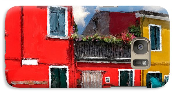 Galaxy Case featuring the photograph Burano Color Houses. by Juan Carlos Ferro Duque