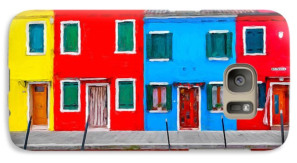 Galaxy Case featuring the photograph Burano Colorful Houses by Juan Carlos Ferro Duque