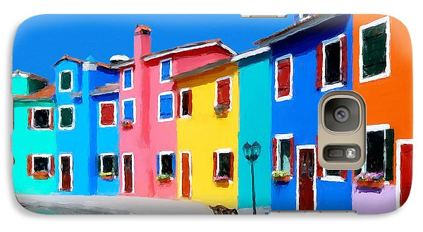 Galaxy Case featuring the photograph Burano Houses.  by Juan Carlos Ferro Duque
