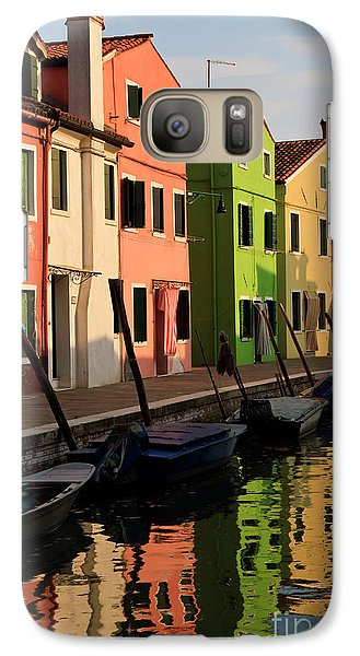 Galaxy Case featuring the photograph Burano Reflections by Dennis Hedberg