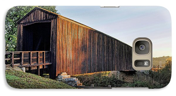 Galaxy Case featuring the photograph Burfordville Covered Bridge by Cricket Hackmann
