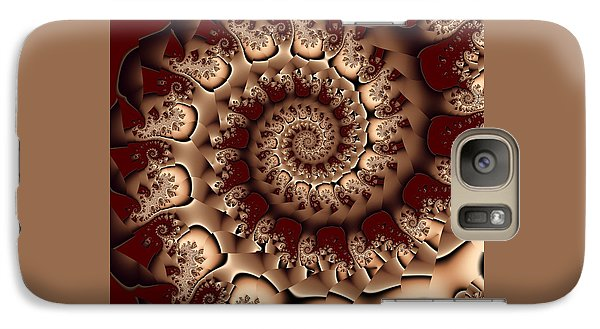 Galaxy Case featuring the digital art Burgundy Royale by Michelle H