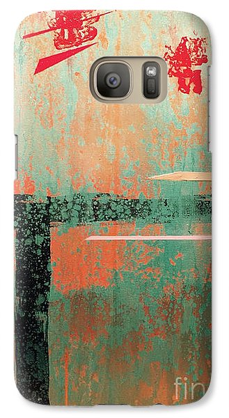 Galaxy Case featuring the painting Buried Cities Beneath by Theresa Kennedy DuPay