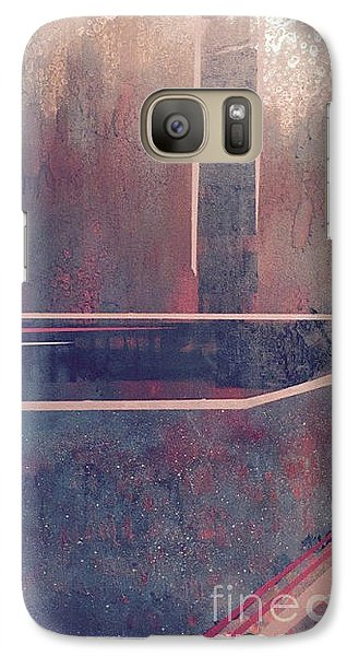 Galaxy Case featuring the painting Buried City Above by Theresa Kennedy DuPay