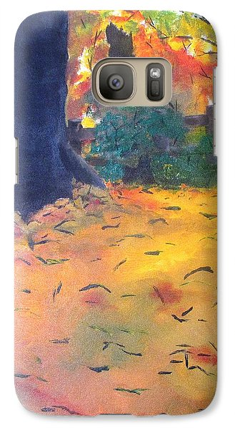 Galaxy Case featuring the painting Buried In Autumn Leaves by Gary Smith