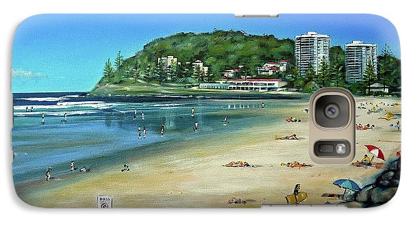 Galaxy Case featuring the painting Burleigh Beach 100910 by Selena Boron