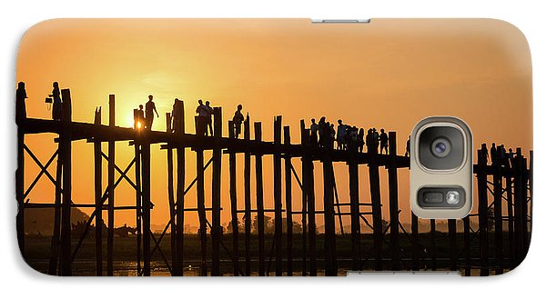 Burmese Python Galaxy S7 Case - Burmese Sunset by Delphimages Photo Creations