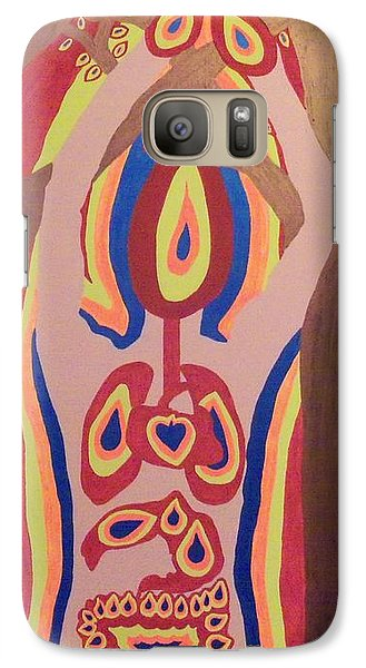 Galaxy Case featuring the painting Burned by Erika Chamberlin