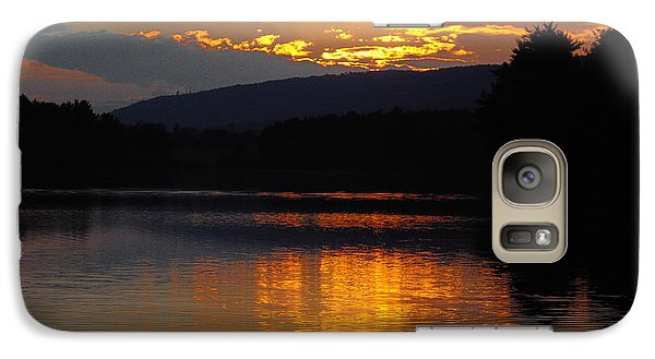 Galaxy Case featuring the photograph Burning Gold by Vilas Malankar
