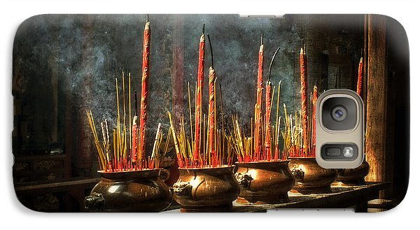 Galaxy Case featuring the photograph Burning Incense by Lucinda Walter