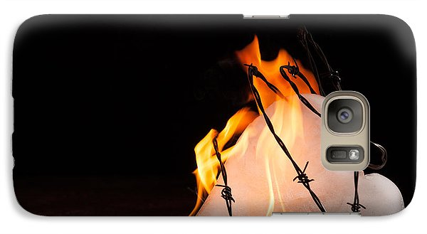 Galaxy Case featuring the photograph Burning Love by Yvette Van Teeffelen