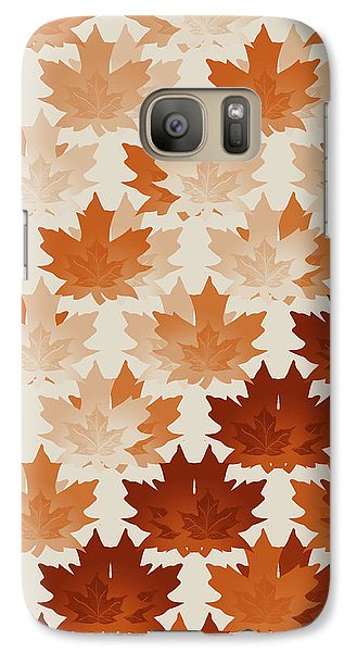 Galaxy Case featuring the digital art Burnt Sienna Autumn Leaves by Methune Hively