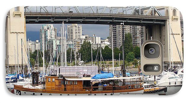 Galaxy Case featuring the painting Burrard Street Bridge, Vancouver by Rod Jellison