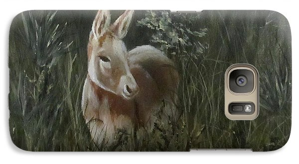 Galaxy Case featuring the painting Burro In The Wild by Roseann Gilmore