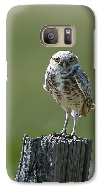 Galaxy Case featuring the photograph Burrowing Owl by Gary Lengyel