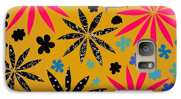 Galaxy Case featuring the mixed media Bursting Open by Gloria Rothrock