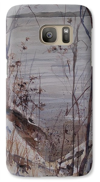 Galaxy Case featuring the painting Burt Lake In Winter by Sandra Strohschein