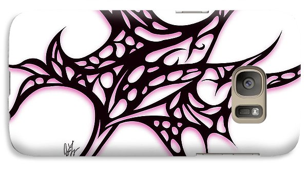 Galaxy Case featuring the drawing Bushal A Thorns Pink by Jamie Lynn