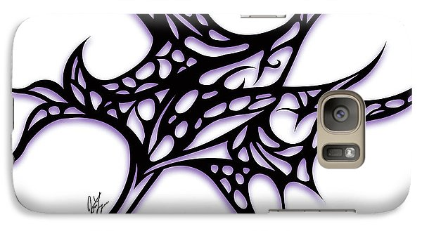 Galaxy Case featuring the drawing Bushal A Thorns Purple by Jamie Lynn