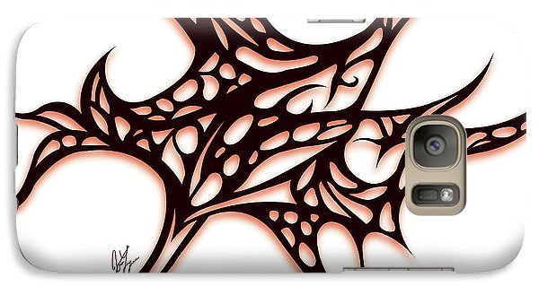 Galaxy Case featuring the drawing Bushal A Thorns Red by Jamie Lynn