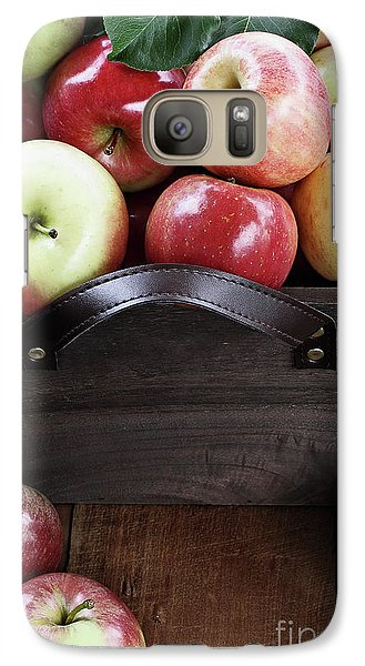 Galaxy Case featuring the photograph Bushel Of Apples  by Stephanie Frey