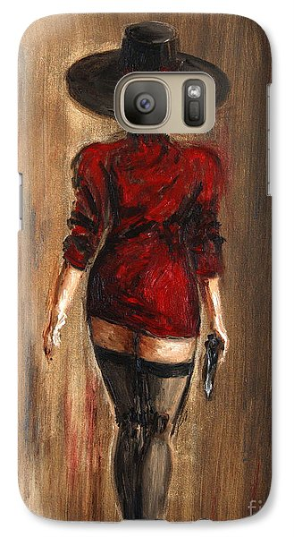 Galaxy Case featuring the painting Business Lady by Arturas Slapsys