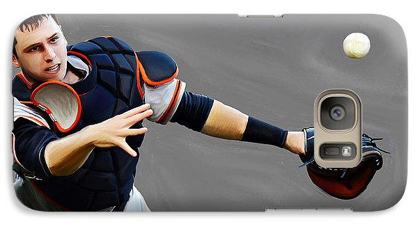 Galaxy Case featuring the painting Buster Posey by Jeff DOttavio